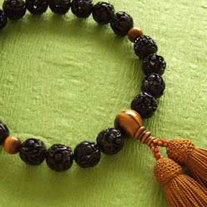 Rosary for men (black Arhat with tiger's eye)